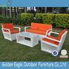 Popular fabric sofa poly rattan furniture