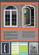 Pvc casement window with crank (laminated color)