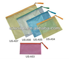 US-A56 PVC mesh bag with zipper