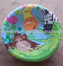 children animal paper plates