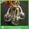 Supply acrylic oem logo promotional led light bulb key chain