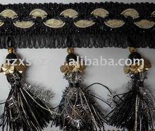10cm Black Decorative Tassel fringe for curtain