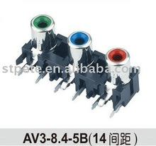 WenZhou female connector(AV3-8.4-5B) 3 pin Audio & Radio jack to RCA
