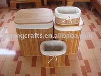 bamboo hamper set of 4