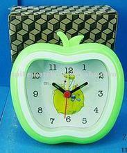 Apple shape children gift s alarm clock green