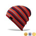 Striped muti-color unisex wholesale beanie hat