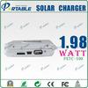 muilt function 1.98watt 3000mAH solar battery portable solar charger for Mobile Phone