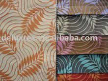 Leaf design jacquard curtain fabric