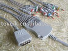 Fukuda Denshi EKG cable with integrated 10 leadwires,Banana 4.0