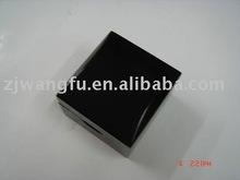 black wooden engagement ring box
