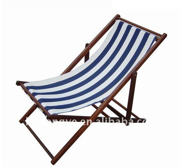De madera plegable de lona de playa silla sillas plegables - Sillas plegables de playa ...