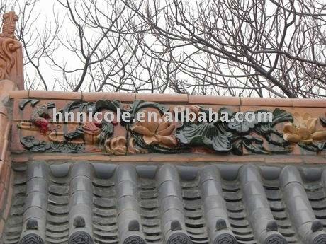decorative ridge tile roof