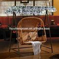 Doble- asientos de mimbre naturaleza caña swing silla colgante, cesta colgante silla parainteriores y al aire libre(6028)