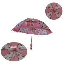 pink plastic handle children rain/sun umbrella