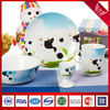Cute Dairy cattle baby children tableware dinner sets coupe shape porcelain 2013 New Arrival (XYS0377)
