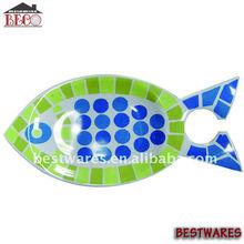 melamine fish shaped plate