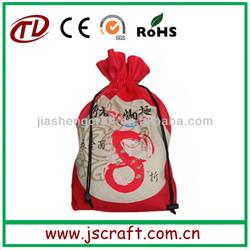 Wholesale eco reusable drawstring cotton bag,drawstring bag,cotton bag