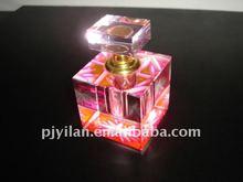 antique home car decoration pink color k9 wedding favor crystal perfume bottle