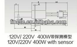 120v/220v 400w con sensor de nitruro de silicio encendedor de superficie caliente para horno de gas encendido