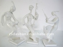 spray paint music player figurine resin craft for music lover collection