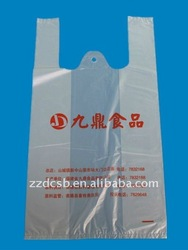vest handle shopping plastic bags for food packaging