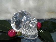 beautiful crystal skull, handcraft crystal glass skull