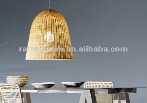 lampadari in rattan : decorativi rattan ombra lampada a sospensione lampadario-Lampadari-Id ...