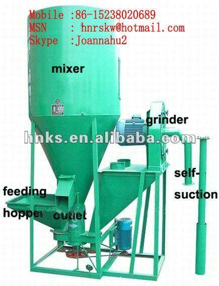 Milho milho triturador, Milho máquina grinder, Alimentação animal Crusher e misturador 0086 15238020689