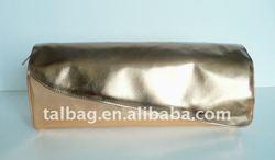 fashion ladies metallic PU leather cosmetic bag