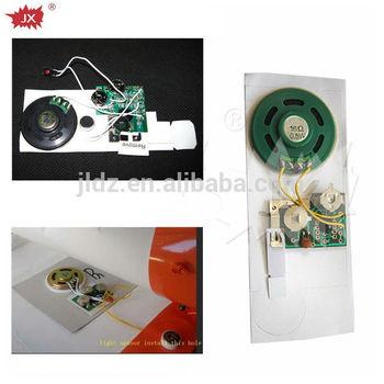 Audio custom greeting card music chip