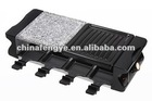 8 persons electric bbq grill with half stone and half grill
