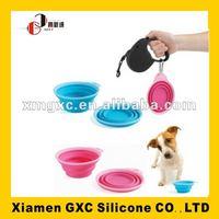 FDA silicone pet bowl for travel