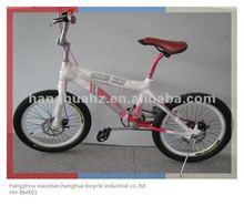 Hh-bx2007a rose bmx vélo avec 360 rotor et frein à disque