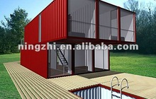 Two storey movable standard 40ft prefab shipping container house