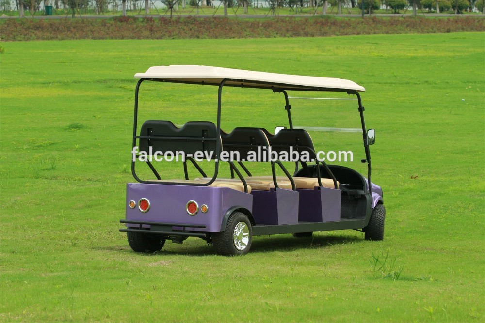 2014 Newest Fashion Style 6 Seater ELECTRIC SOLAR Golf Cart Battery Powered electric car(M6)