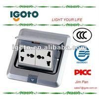 copper double multifunction power socket floor electric socket outlet