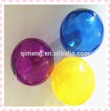 Flashing Bouncing Ball with Rainbow Ribbon