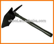 steel folding shovel +wooden /steel handle+pick