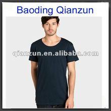 100% cotton custom plain o-neck men's t-shirt