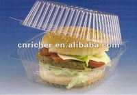 round clear/transparent plastic food container/box for cake/bread/sushi/sandwich packing