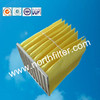 Durable synthetic fibre pleated bag filter F6 F9