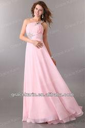 Hot selling!!! Evening Dress 2015 One Shoulder Bridal Wedding Gown CL2949