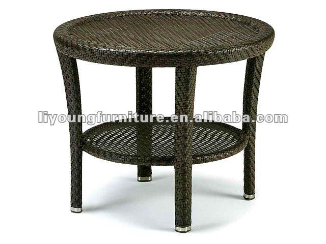 Ext rieur en osier petite table basse en rotin lg03 3008 for Table exterieur osier