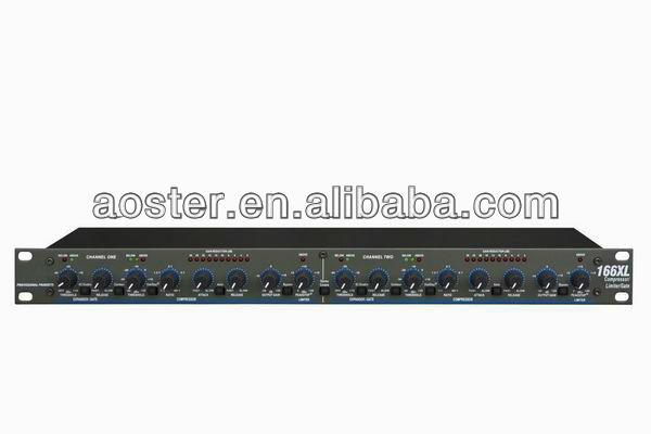 Dbx ecualizador 166XL de doble compresor limitador de puerta con 2 canales de ruido gating