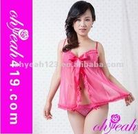 Pink short fashion designer sexy nighty