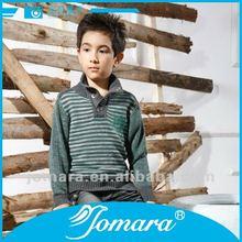 Button long sleeve half cardigan design sweater for kids boy