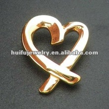stainless steel 18k gold plated heart necklace pendants