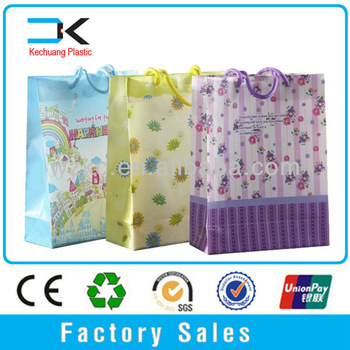 China ! Luxury Transparent gift packing custom tote bag