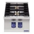 sopas de cocina modular 700 gama de la serie de aceroinoxidable de la tapa de tabla 2 quemador de cocina de gas