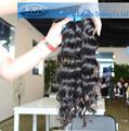 Brésilienne de cheveux naturels à long 100 produits aliexpress cheveux faisceaux et la fermeture fait en chine